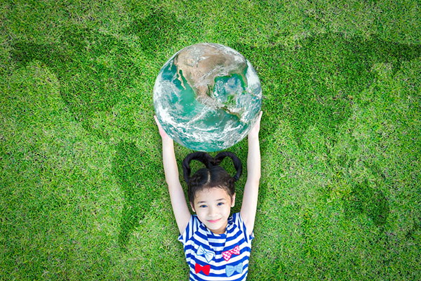 Going green with children for the environment